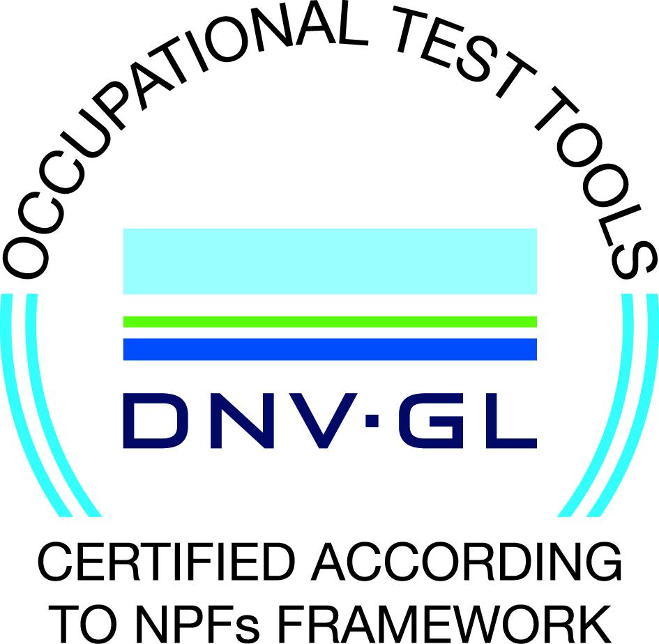 Våra tester är certifierade av DNV-GL